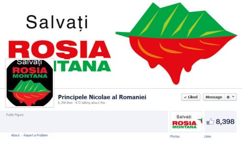 Pagina oficială a A.S.R. Principelui Nicolae al României (cu multe trimiteri opunându-se proiectului Roşia Montană).