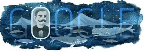 """""""Logoul Google face referire la expediţia lui EMIL RACOVIŢĂ în Antarctica, în urma căreia savantul român a realizat un studiu aprofundat asupra vieţii balenelor, pinguinilor şi a altor păsări artice"""", în timpul expediţiei în Antartica din 1897-1899; este primul român care a ajuns pe continentul arctic."""