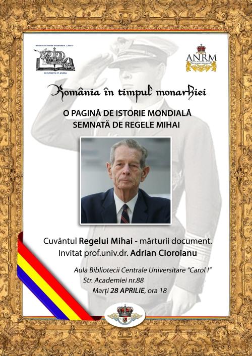 Poster A3 - Conferinta ANRM - Cuvântul Regelui Mihai